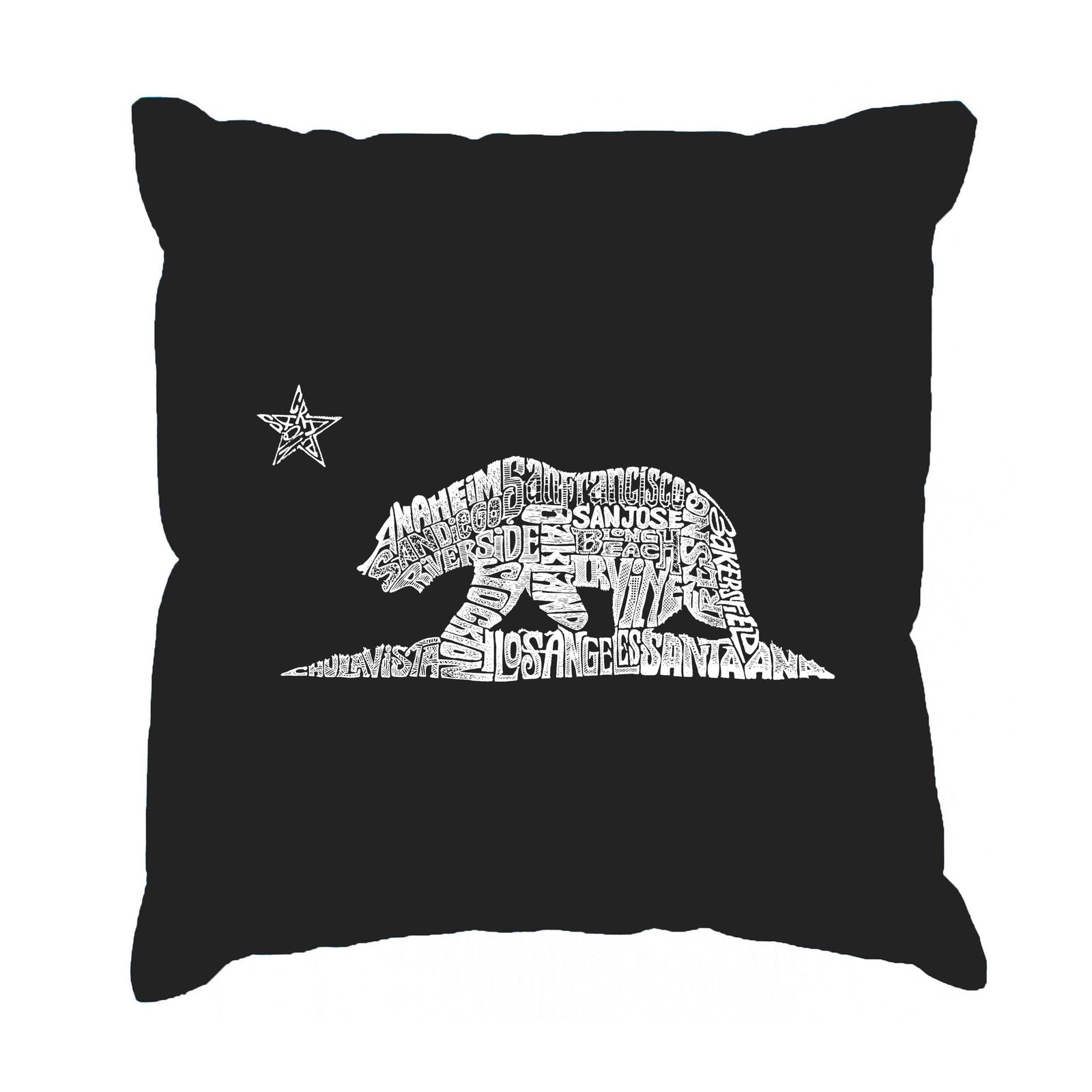Throw Pillow Cover - California Bear