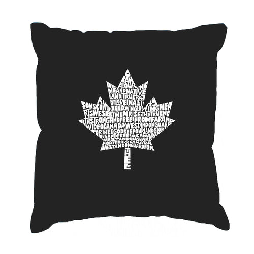 Throw Pillow Cover - CANADIAN NATIONAL ANTHEM