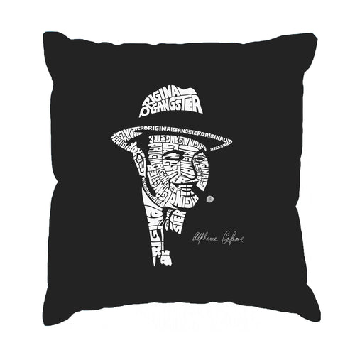 Throw Pillow Cover - AL CAPONE-ORIGINAL GANGSTER