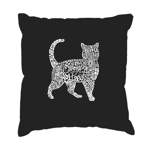 Throw Pillow Cover - Cat