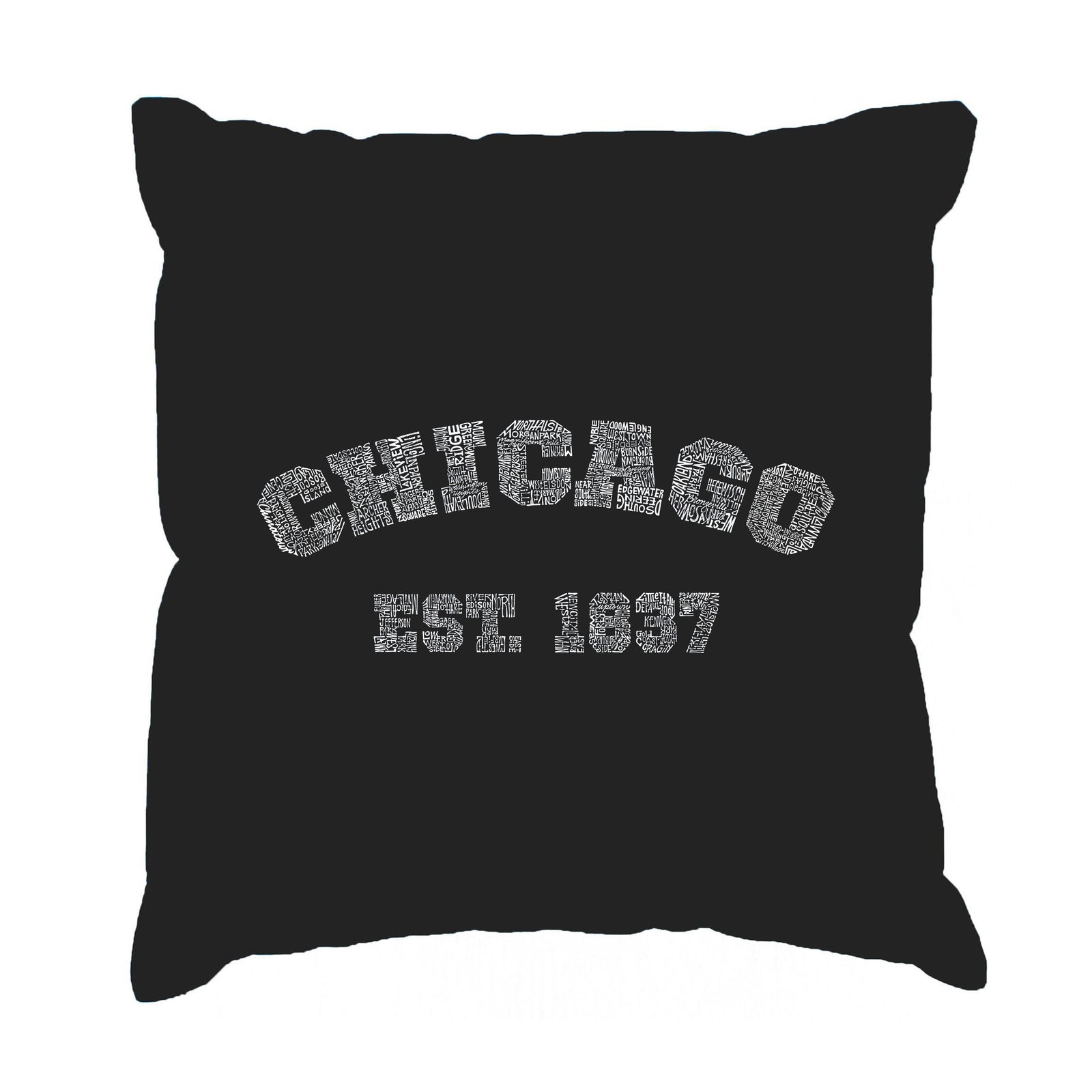 Throw Pillow Cover - Chicago 1837