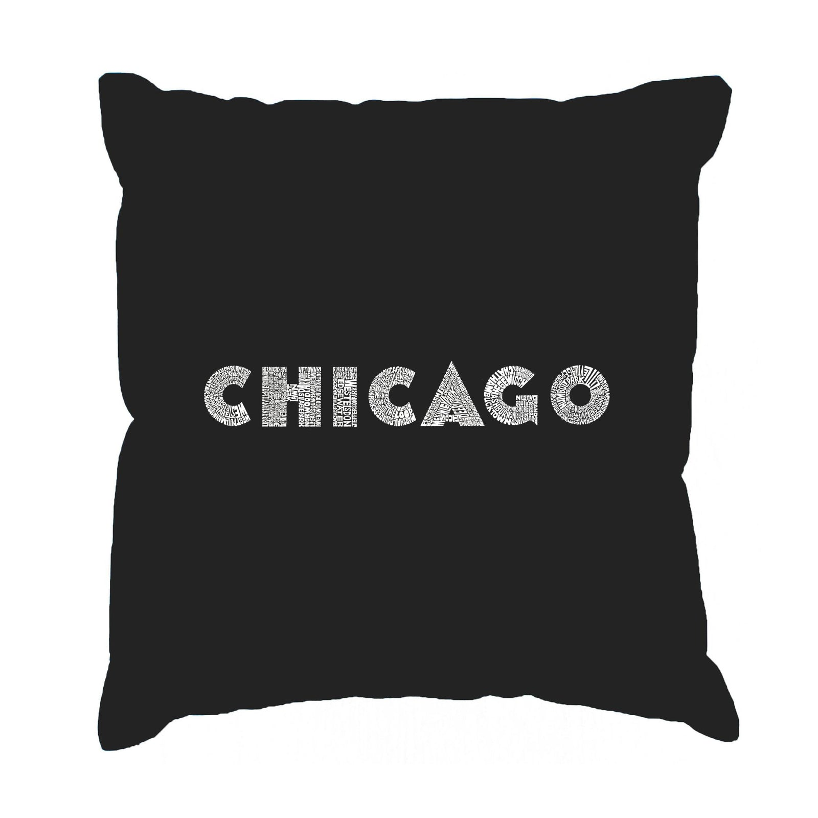 Throw Pillow Cover - CHICAGO NEIGHBORHOODS