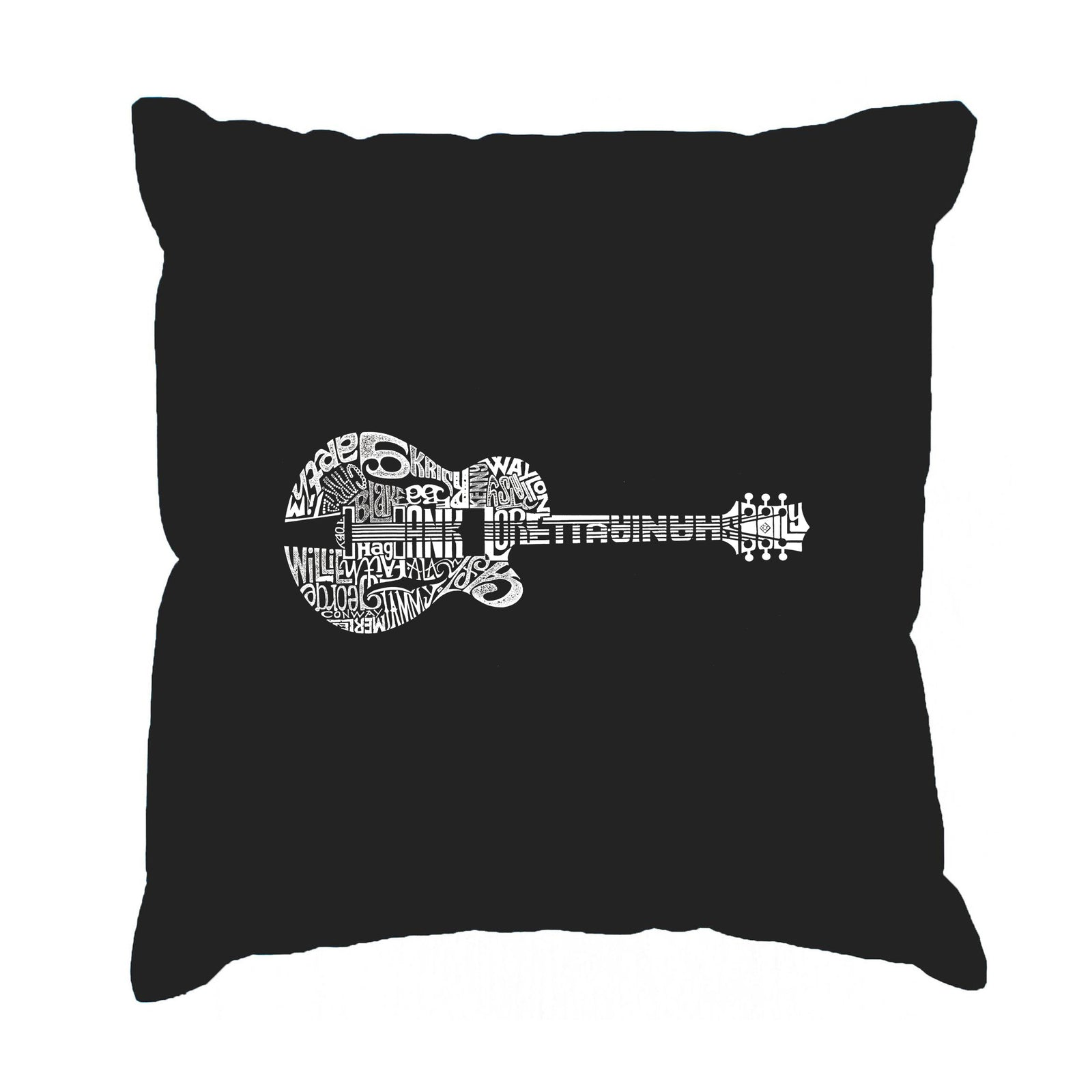 Throw Pillow Cover - Country Guitar