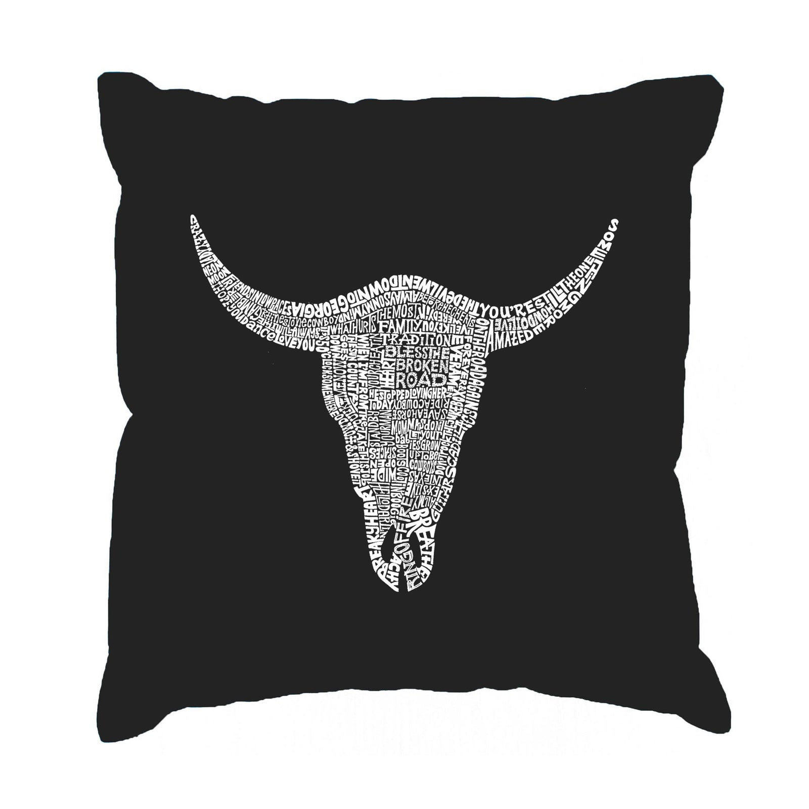 Throw Pillow Cover - COUNTRY MUSIC'S ALL TIME HITS