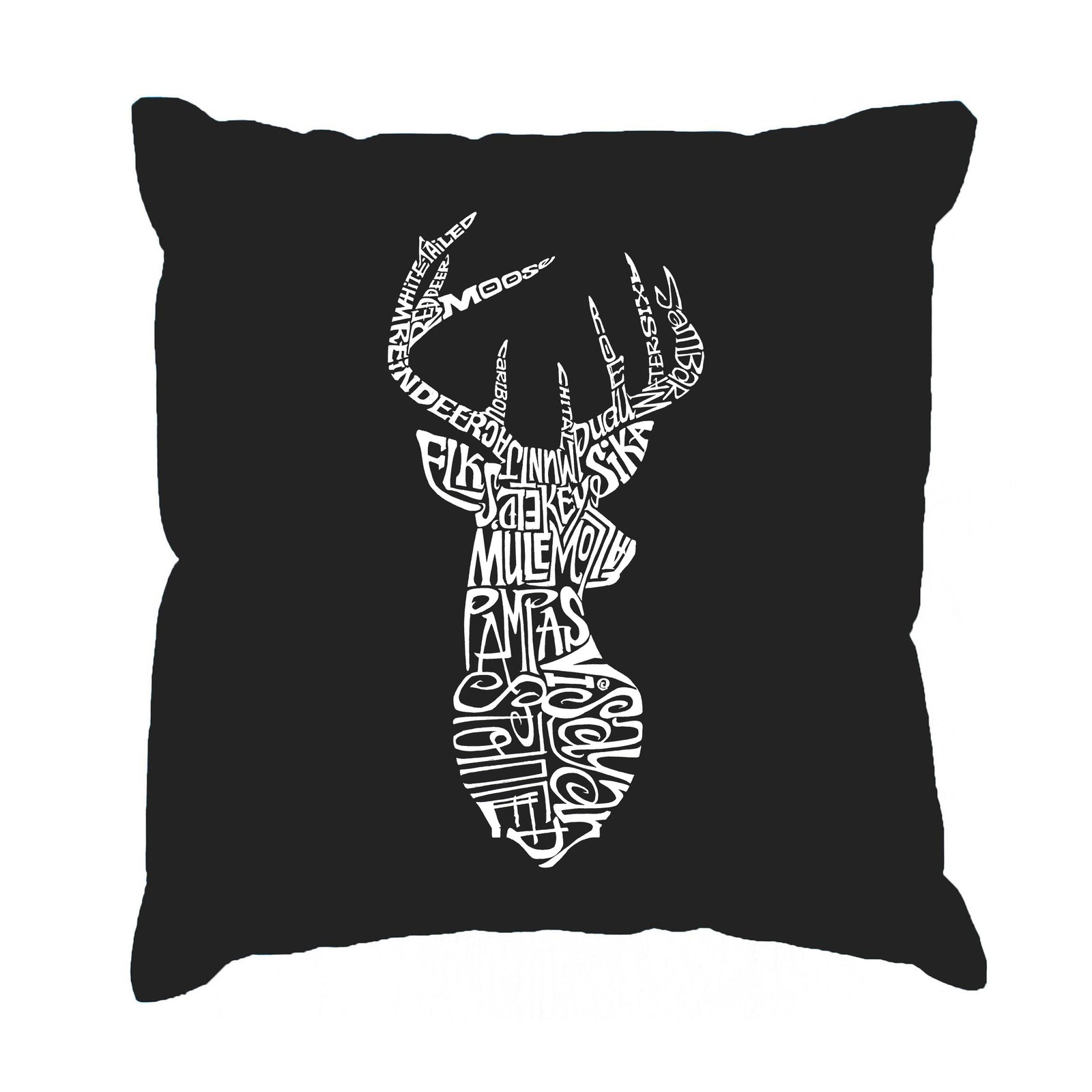 Throw Pillow Cover - Types of Deer