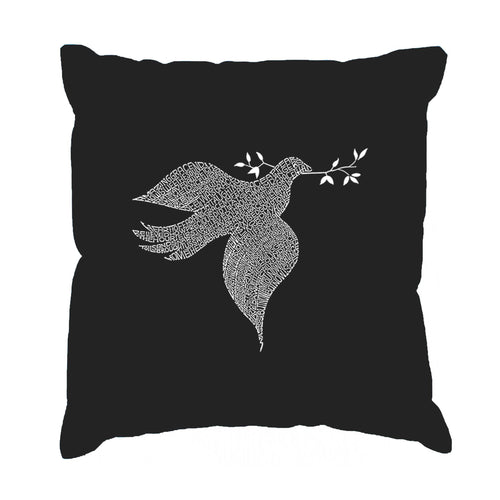 Los Angeles Pop Art Throw Pillow Cover - Dove