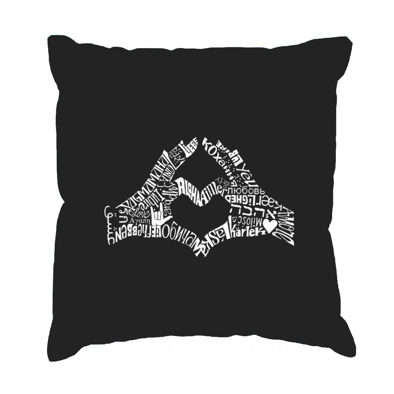 Throw Pillow Cover - Finger Heart