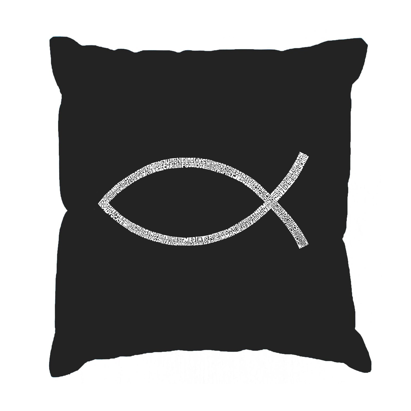 Throw Pillow Cover - JESUS FISH