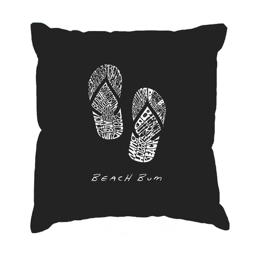 Throw Pillow Cover - BEACH BUM