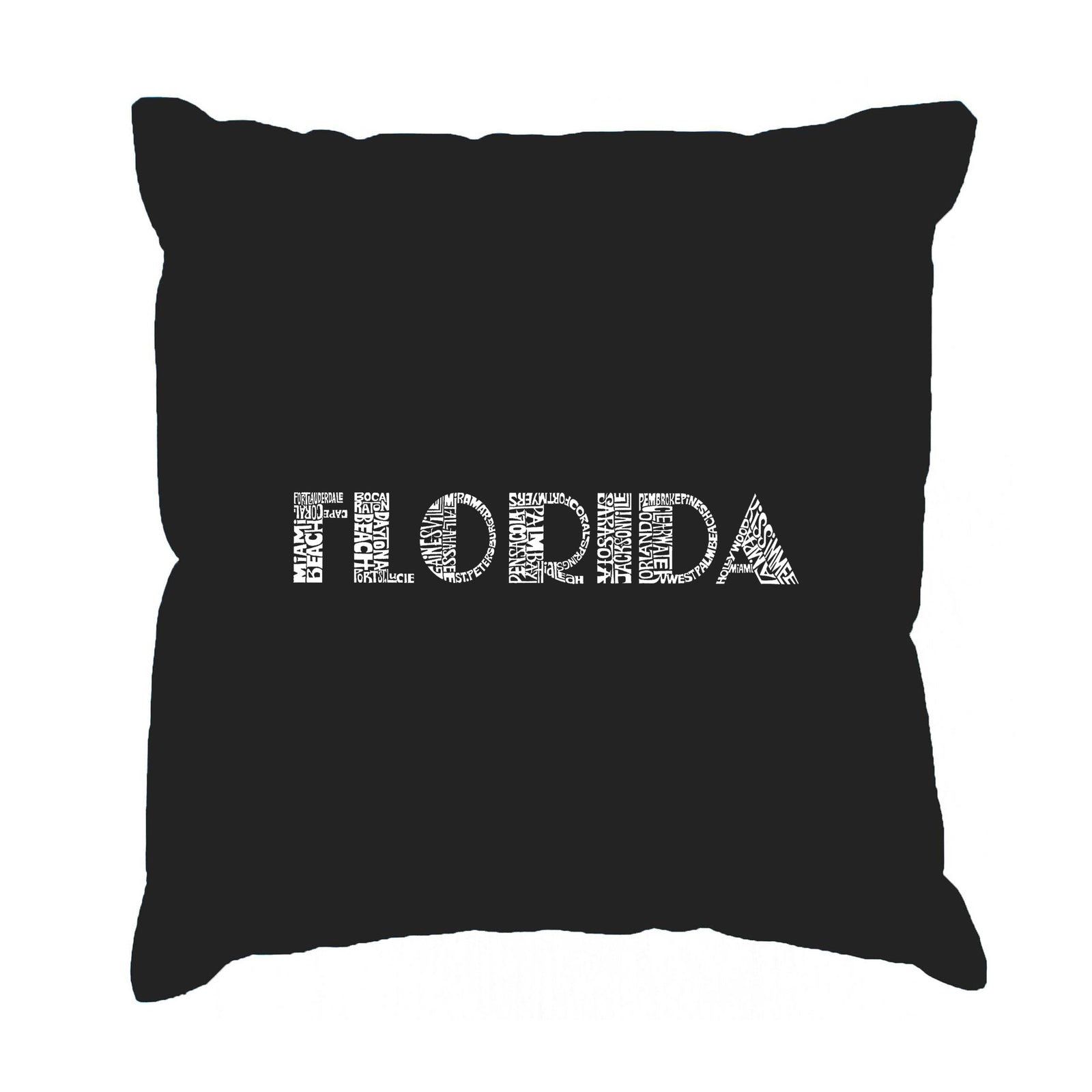 Throw Pillow Cover - POPULAR CITIES IN FLORIDA
