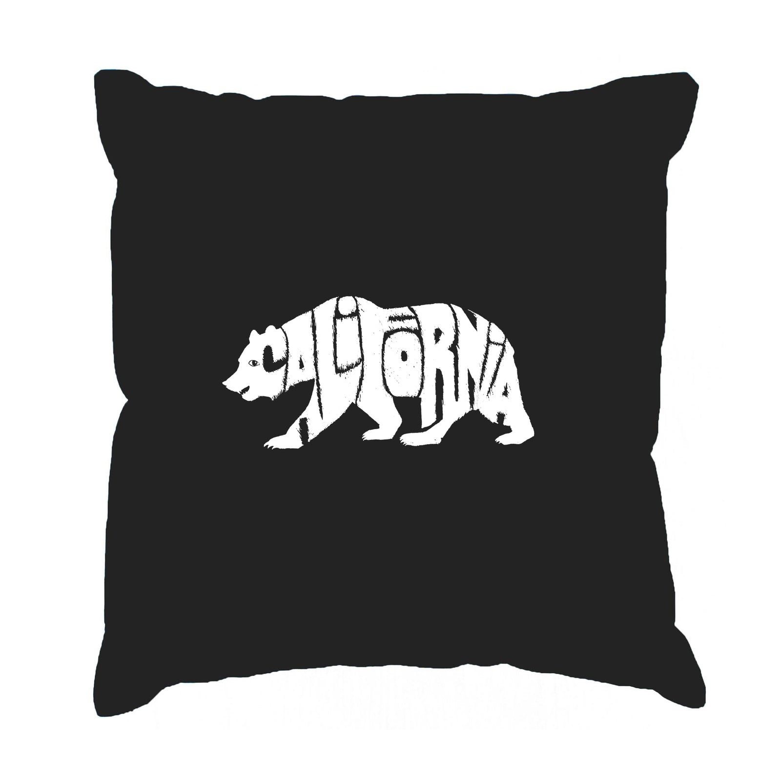 Throw Pillow Cover - Word Art - California Bear