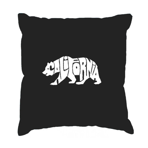 Throw Pillow Cover - HAWAIIAN ISLAND NAMES & IMAGERY