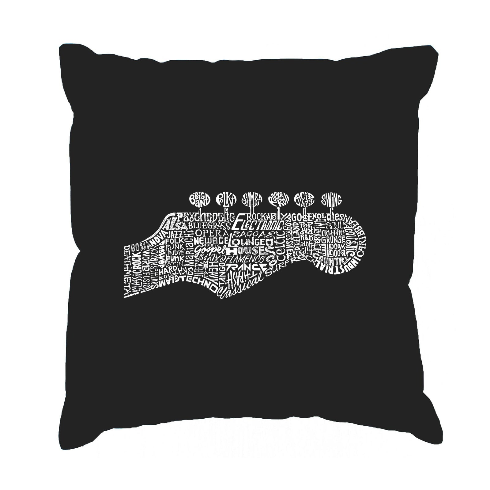 Throw Pillow Cover - Guitar Head