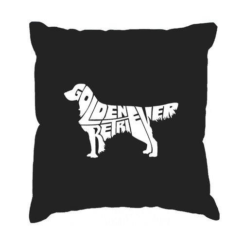 Los Angeles Pop Art Throw Pillow Cover - Golden Retreiver