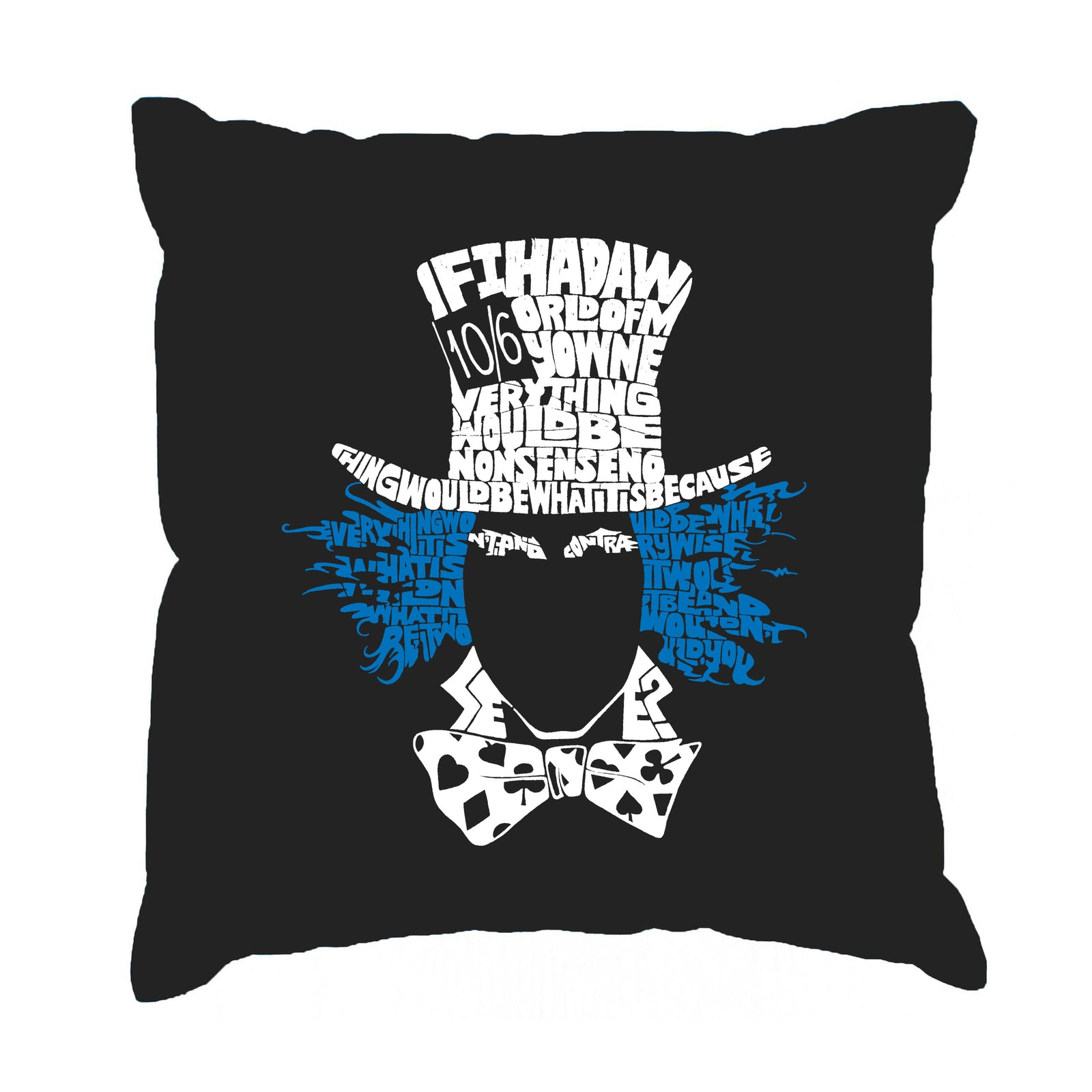 Throw Pillow Cover - The Mad Hatter