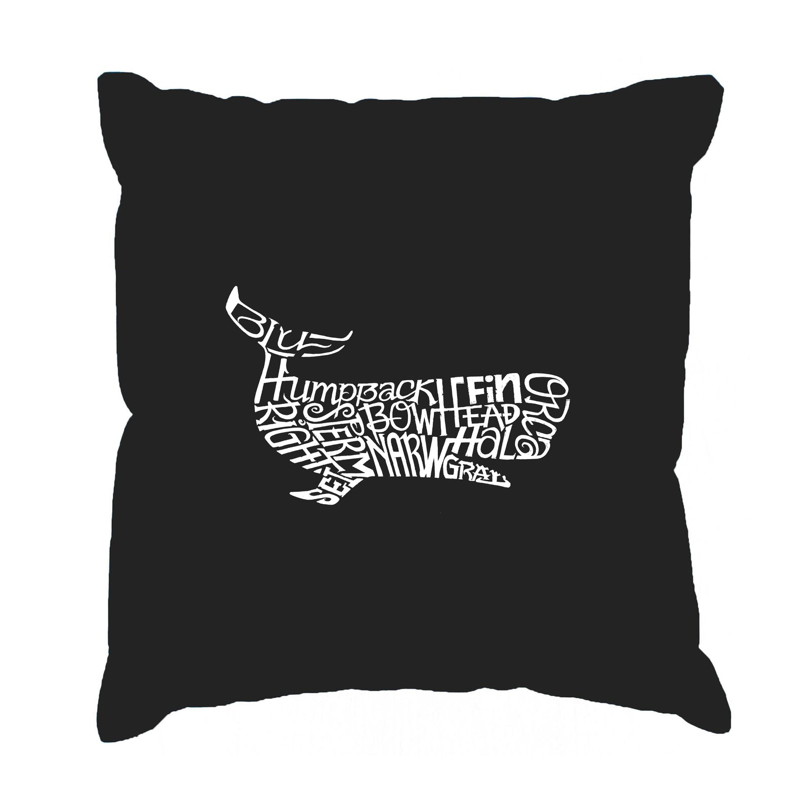 Throw Pillow Cover - Word Art - Humpbk