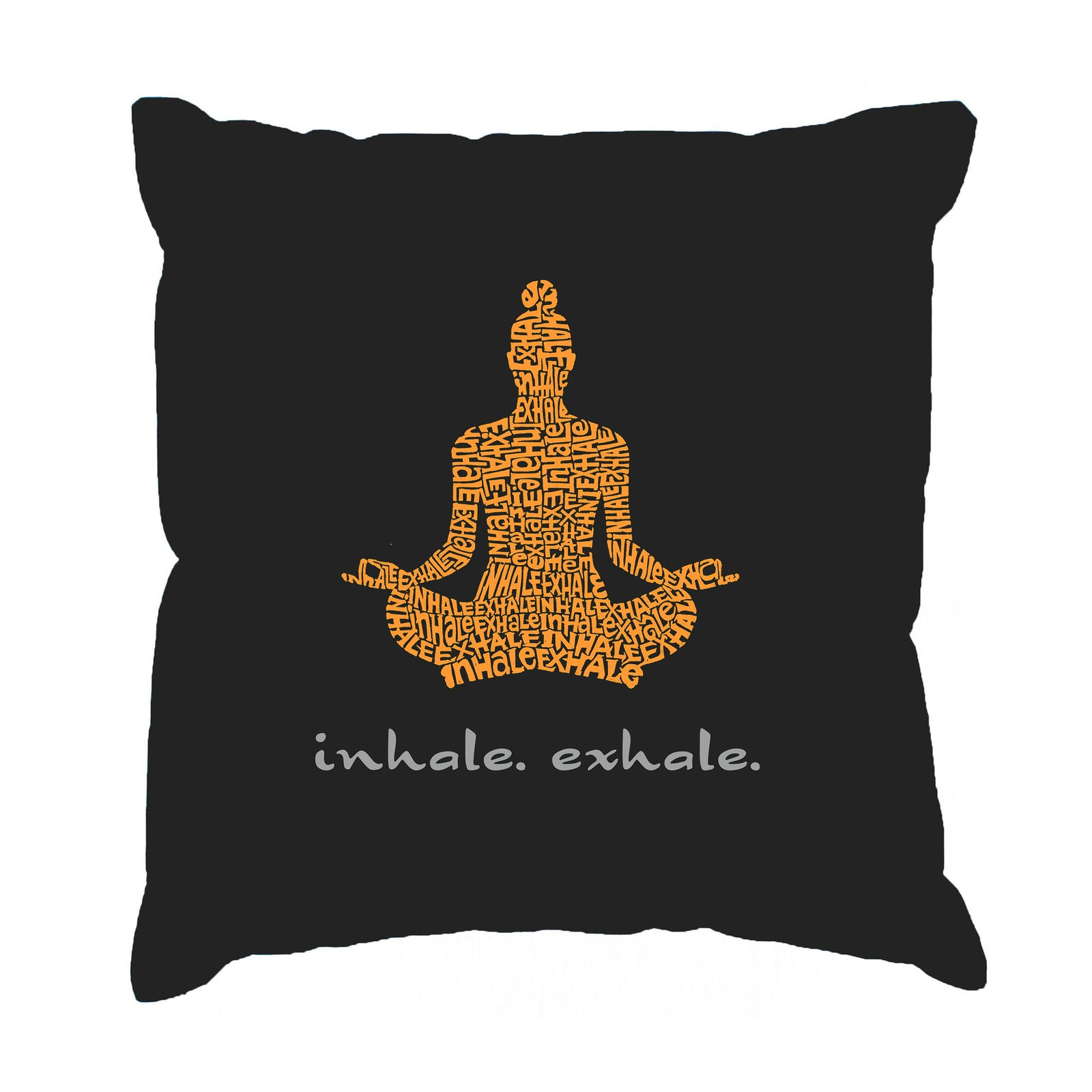 Throw Pillow Cover - Word Art - Inhale Exhale