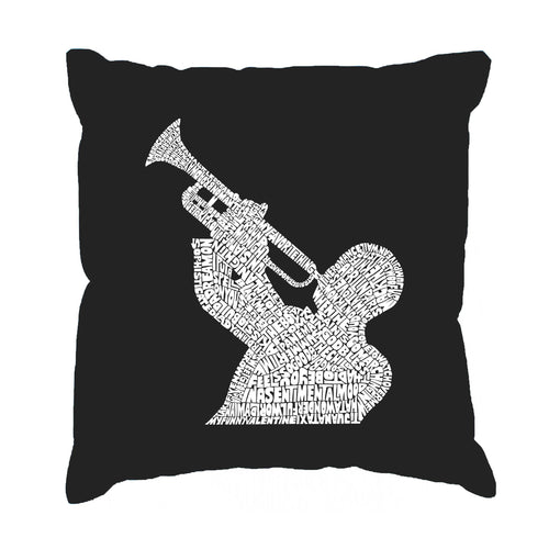 Throw Pillow Cover - ALL TIME JAZZ SONGS