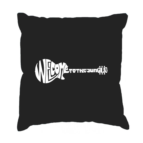 Los Angeles Pop Art Throw Pillow Cover - Welcome to the Jungle