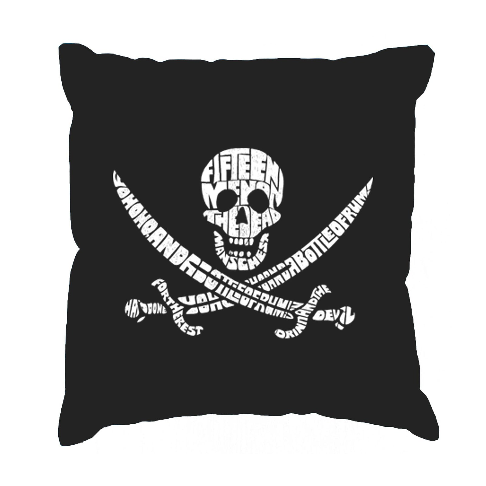 Throw Pillow Cover - Lyrics To A Legendary Pirate Song