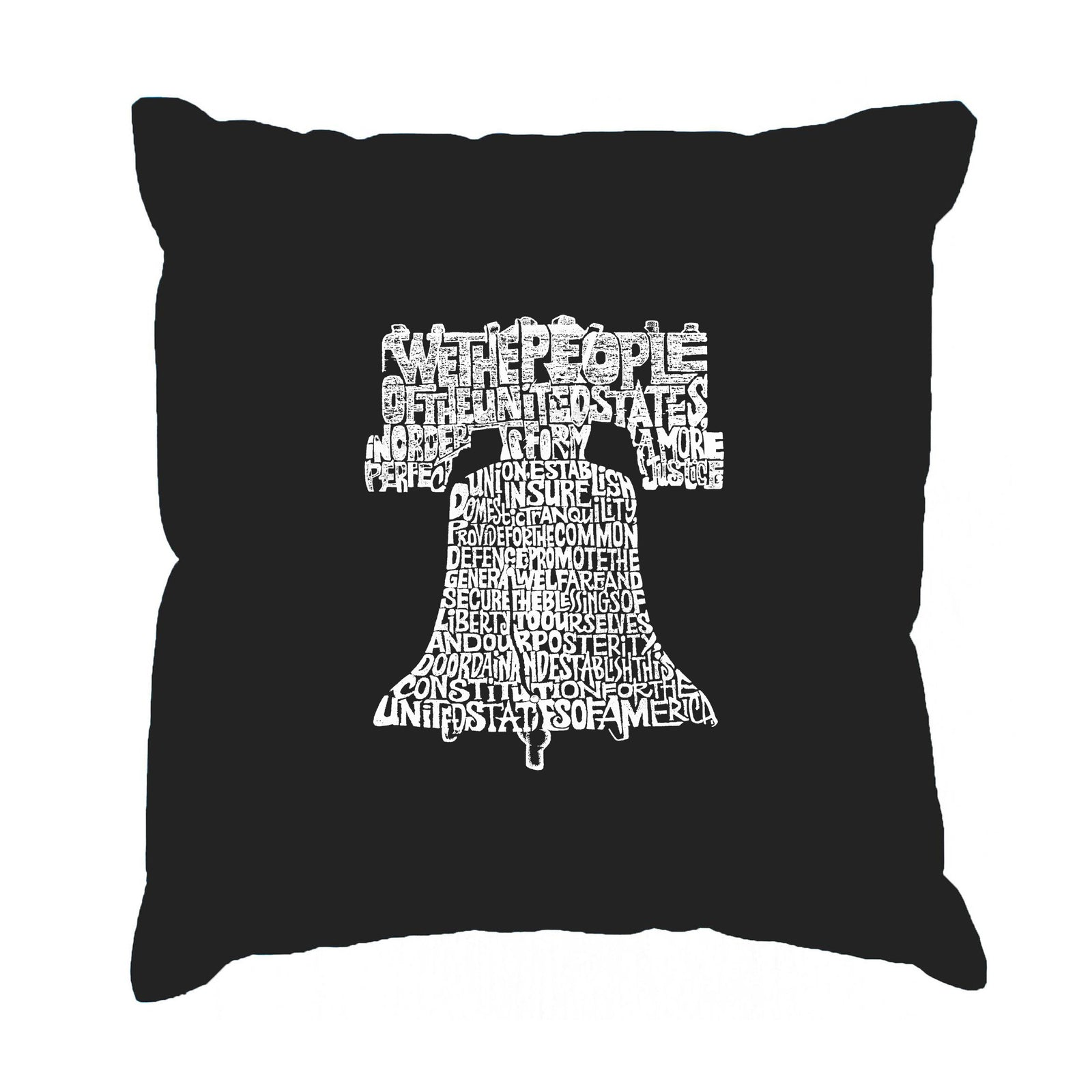 Los Angeles Pop Art Throw Pillow Cover - Liberty Bell