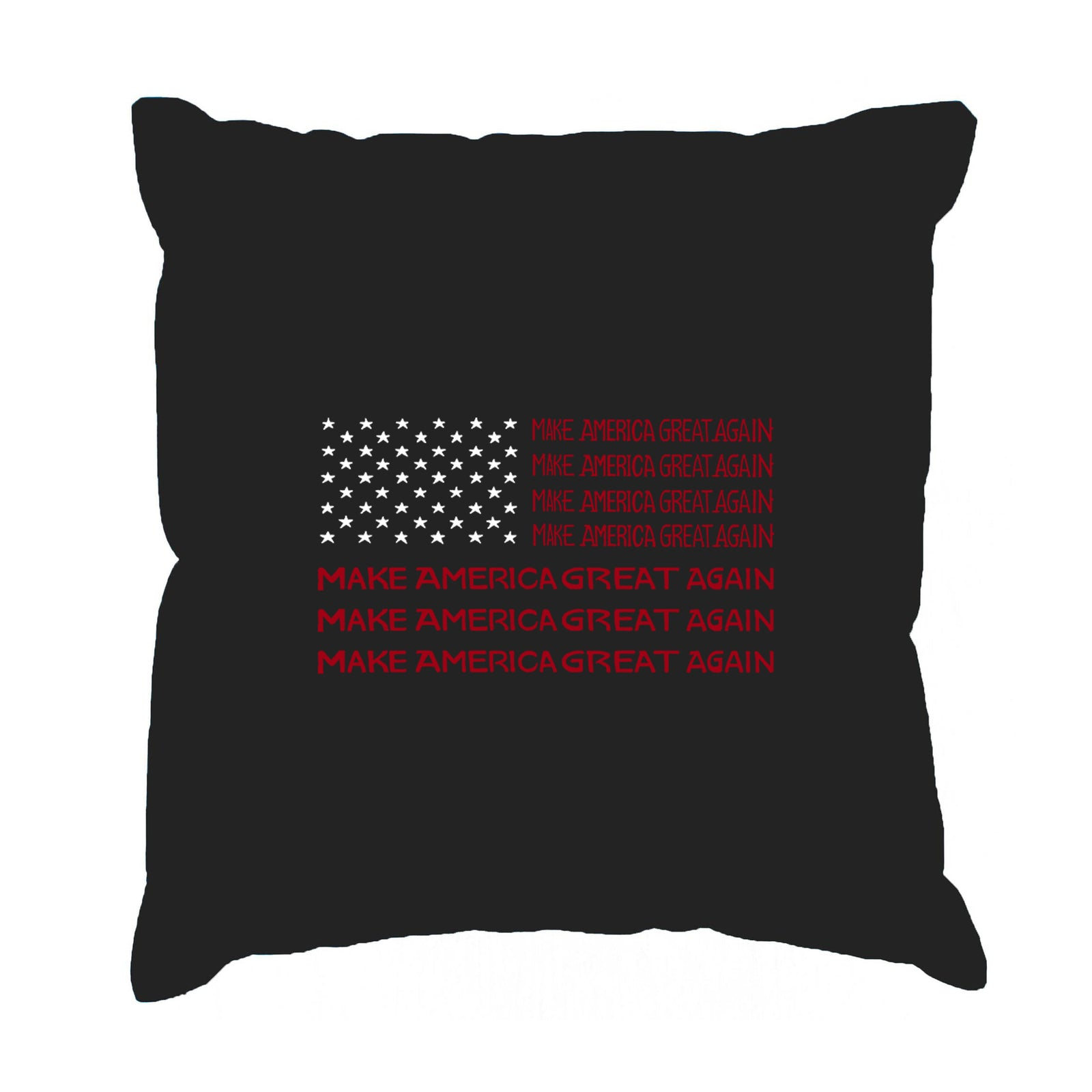 Throw Pillow Cover - Word Art - Maga Flag