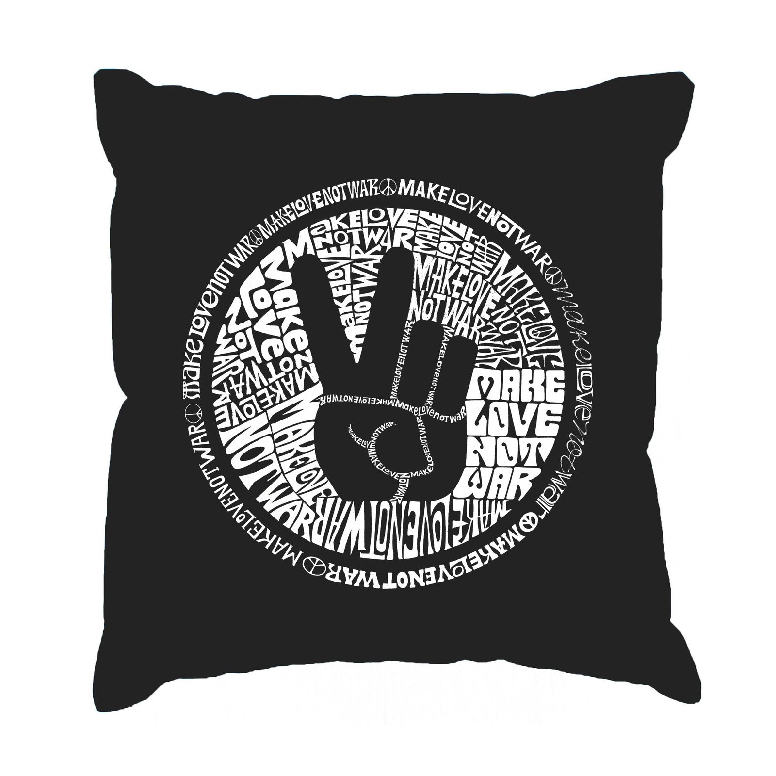 Throw Pillow Cover - MAKE LOVE NOT WAR
