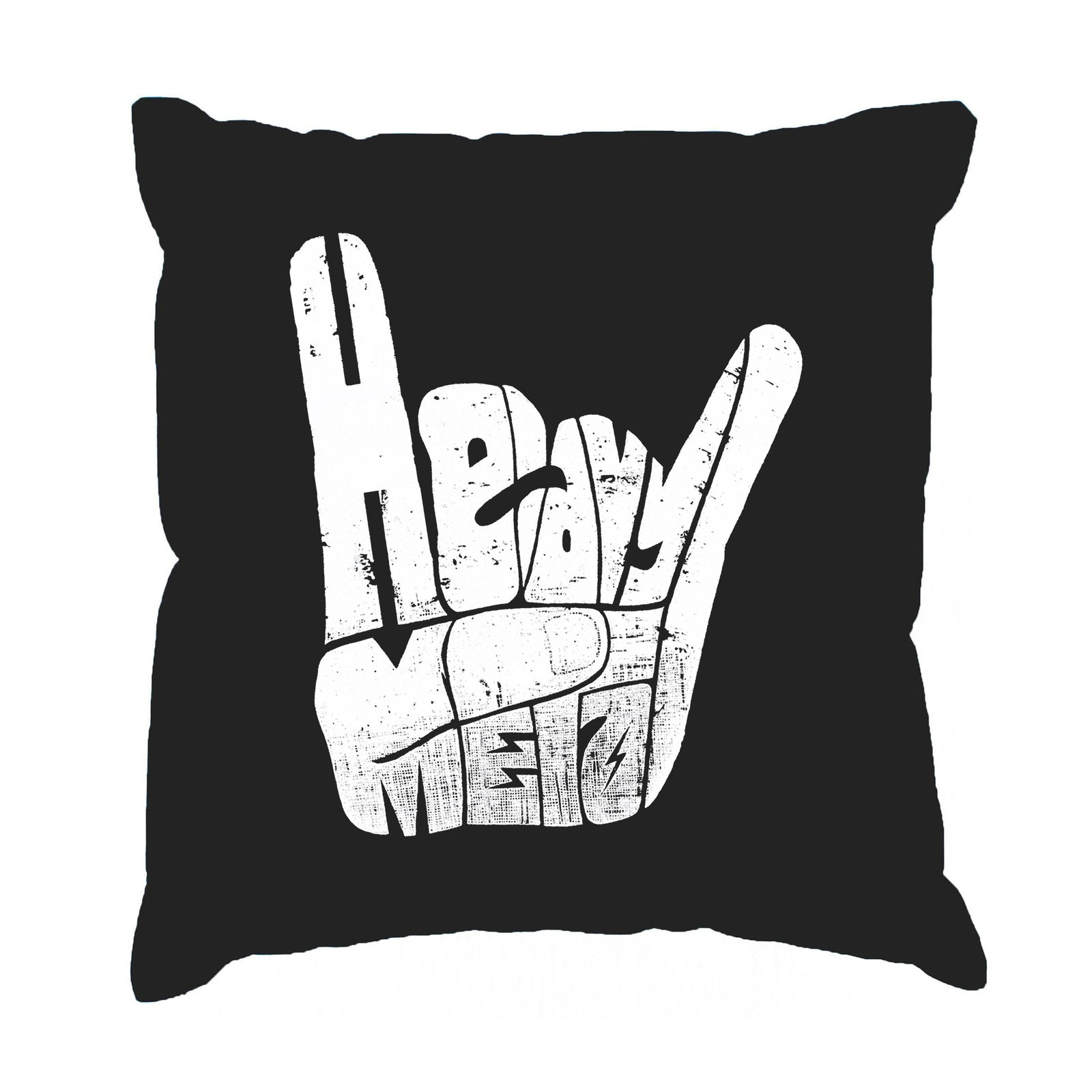 Throw Pillow Cover - Heavy Metal