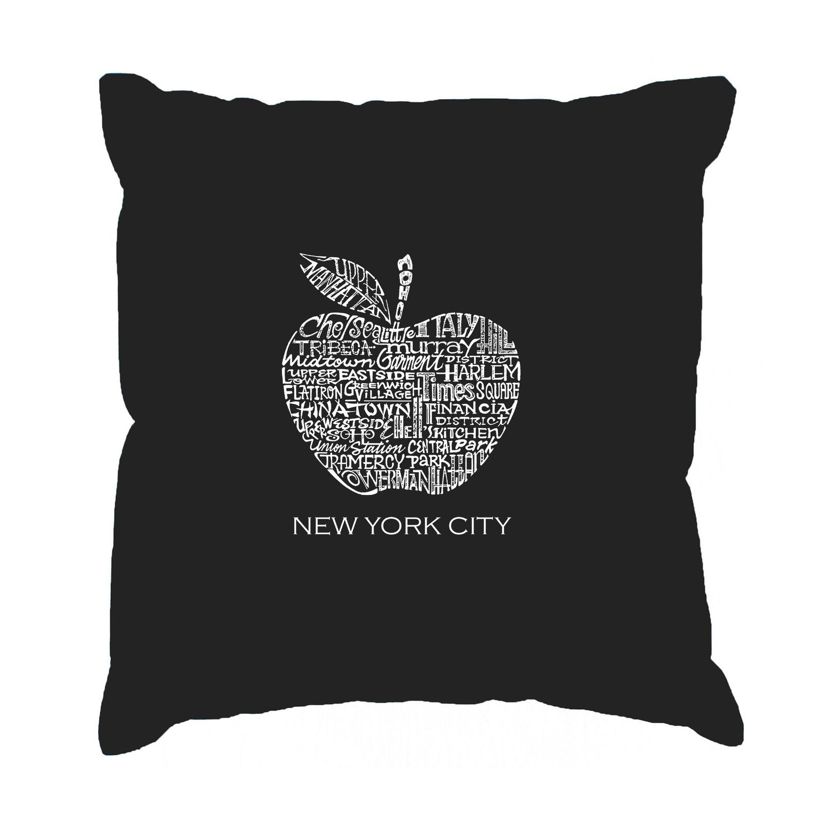 Throw Pillow Cover - Word Art - Neighborhoods in NYC