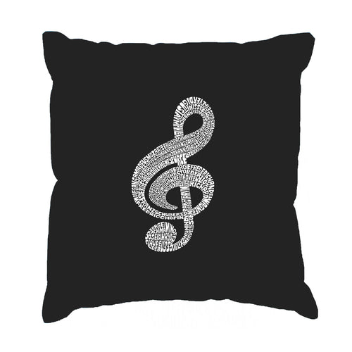 Los Angeles Pop Art Throw Pillow Cover - Music Note