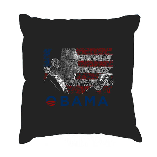 Throw Pillow Cover - BARACK OBAMA - ALL LYRICS TO AMERICA THE BEAUTIFUL