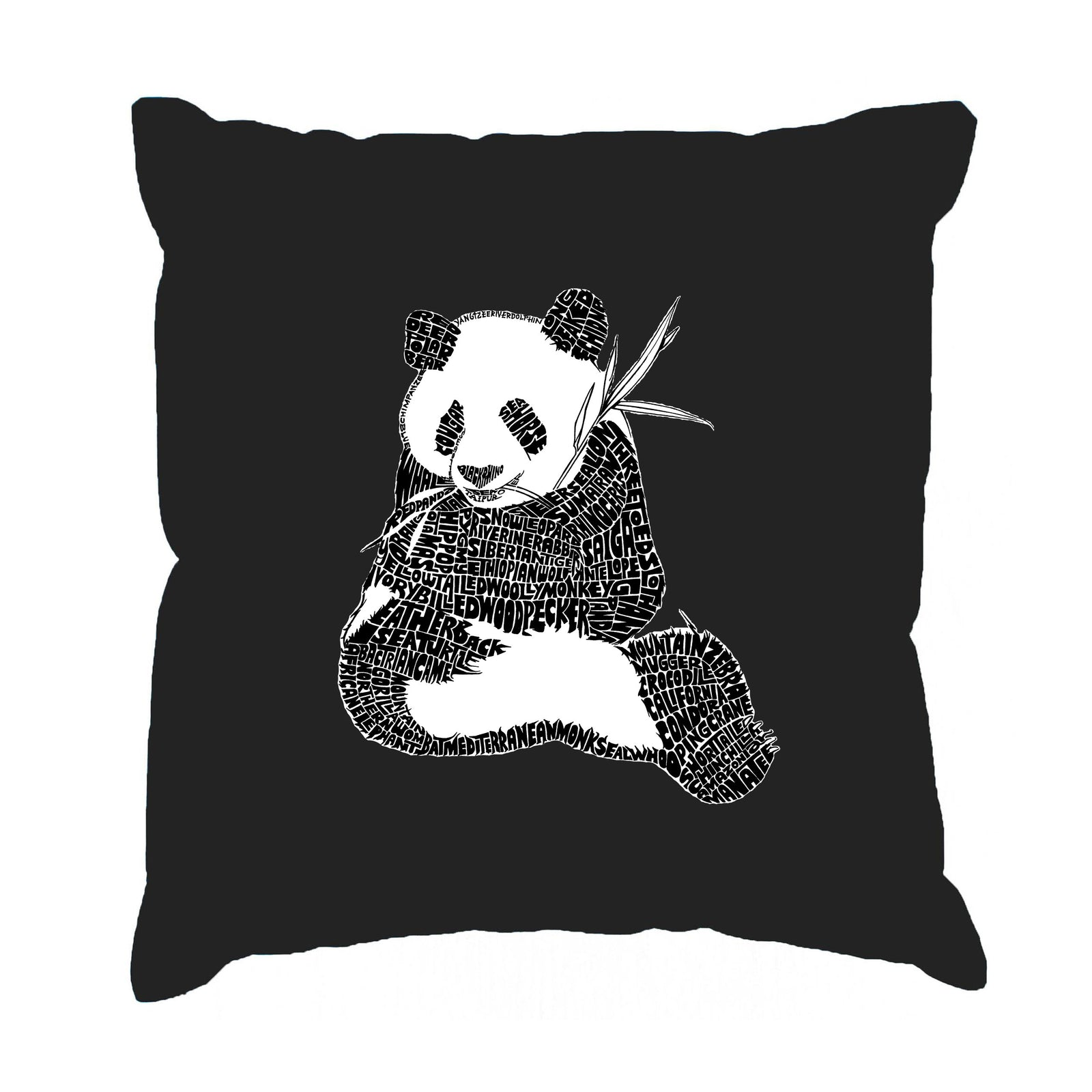 Throw Pillow Cover - Endangered SPECIES