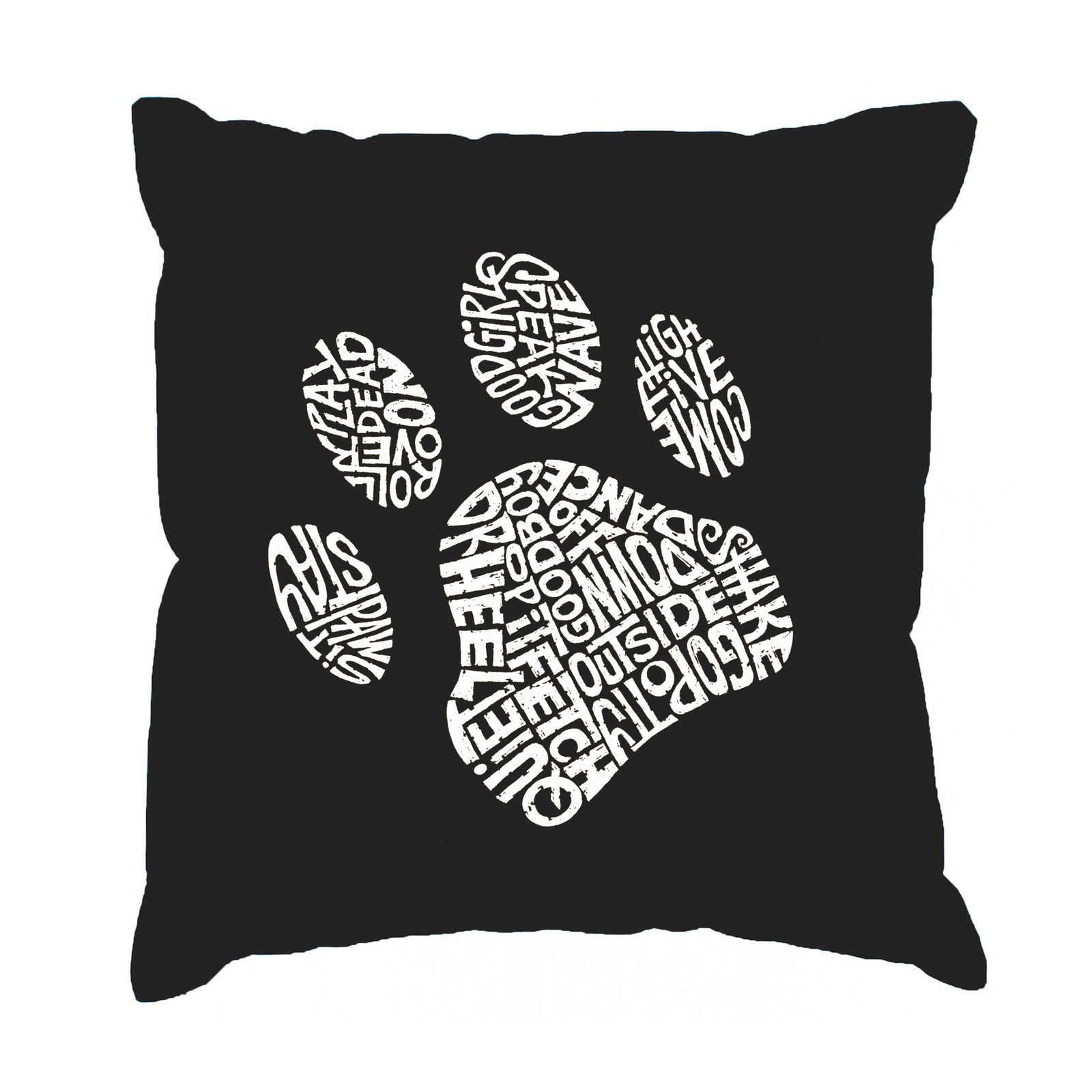 Throw Pillow Cover - Dog Paw