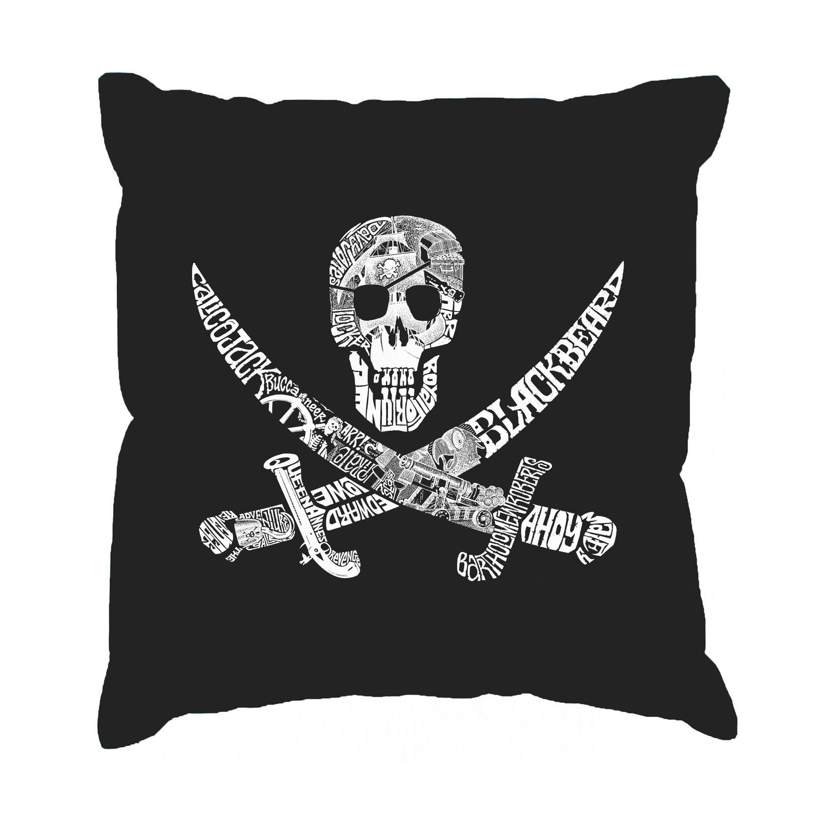Throw Pillow Cover - PIRATE CAPTAINS, SHIPS AND IMAGERY
