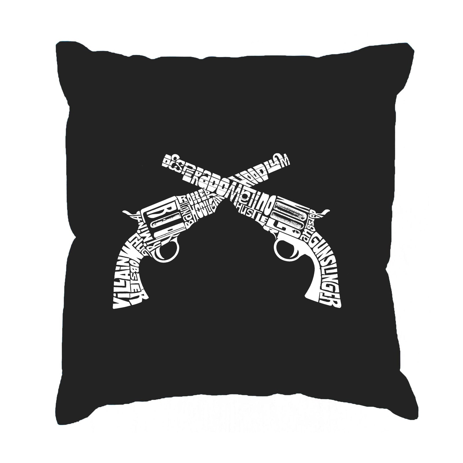 Throw Pillow Cover - CROSSED PISTOLS