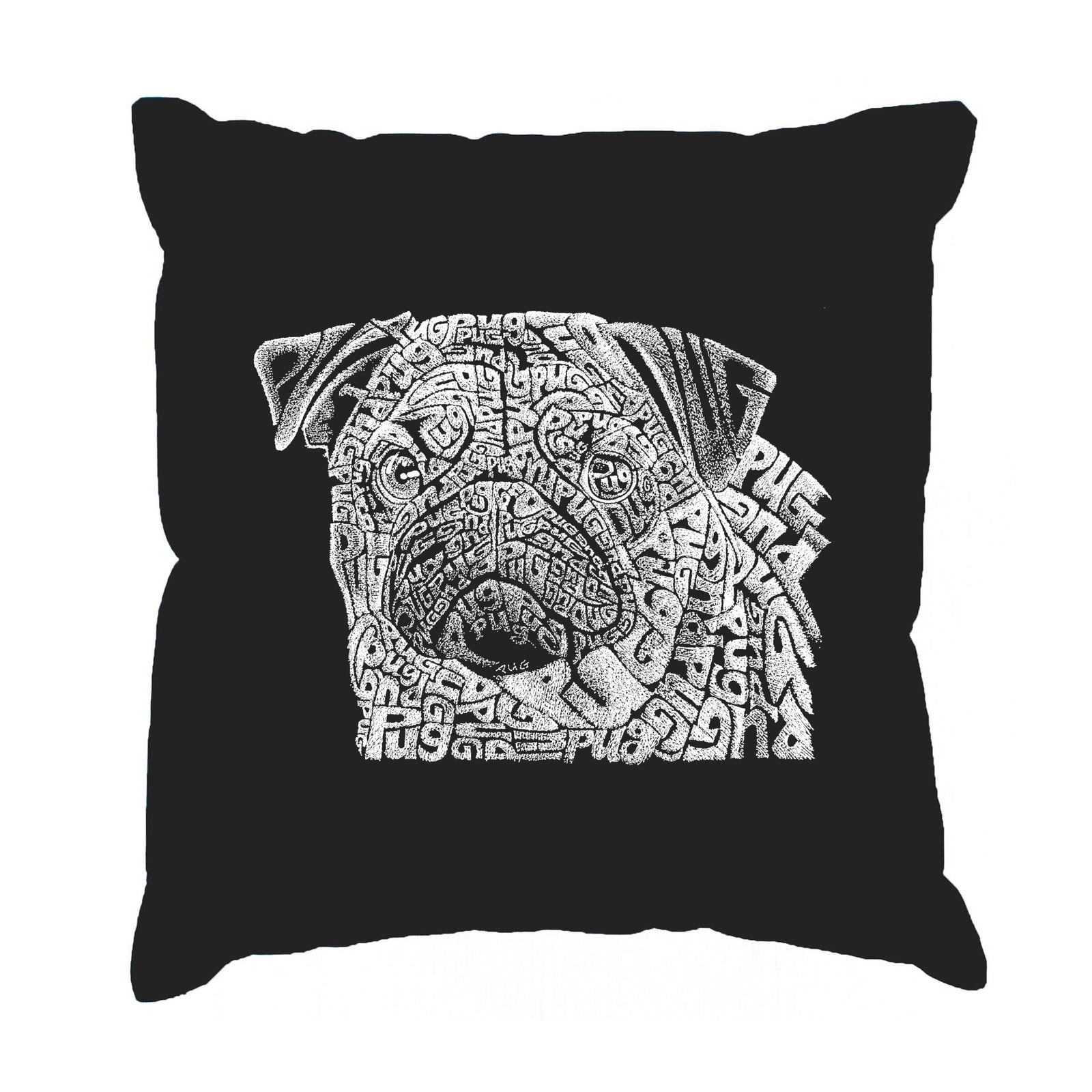 Throw Pillow Cover - Pug Face