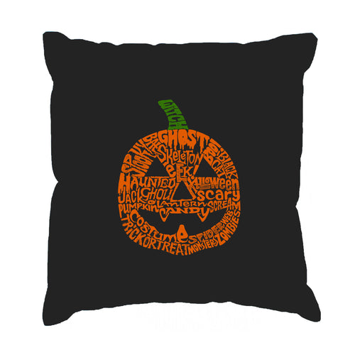 Throw Pillow Cover - Word Art - Pumpkin