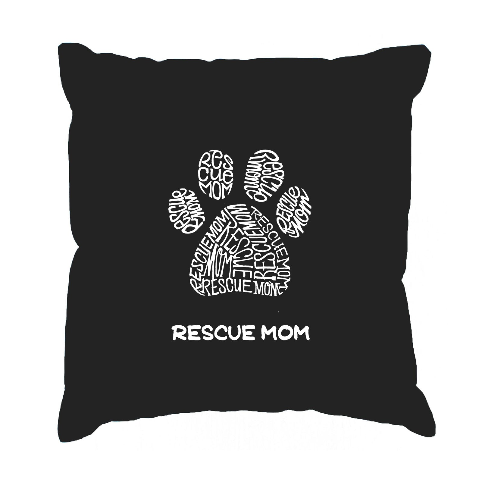 Throw Pillow Cover - Word Art - Resue Mom