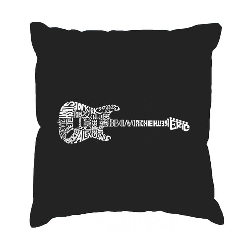 Los Angeles Pop Art Throw Pillow Cover - Rock Guitar