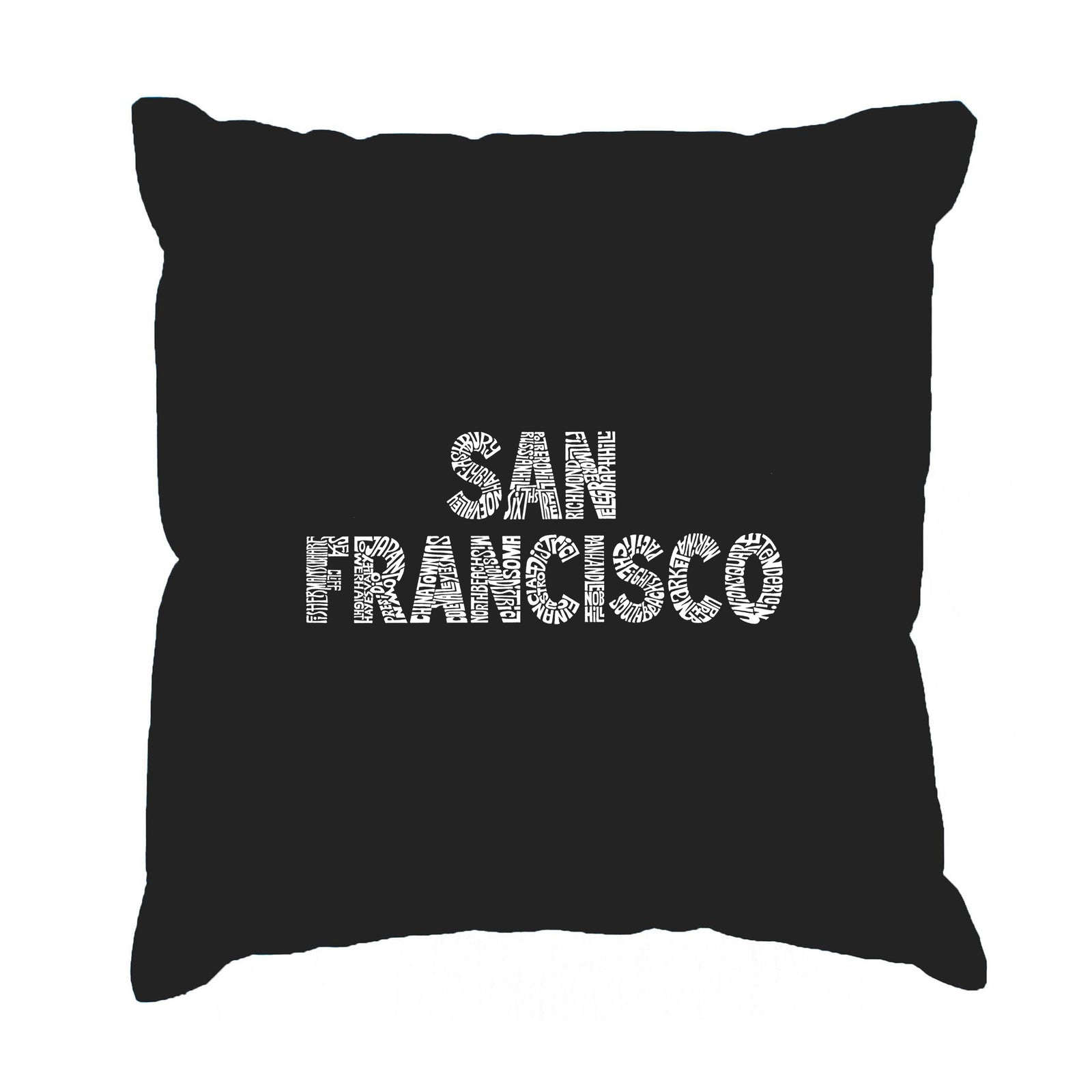 Throw Pillow Cover - SAN FRANCISCO NEIGHBORHOODS