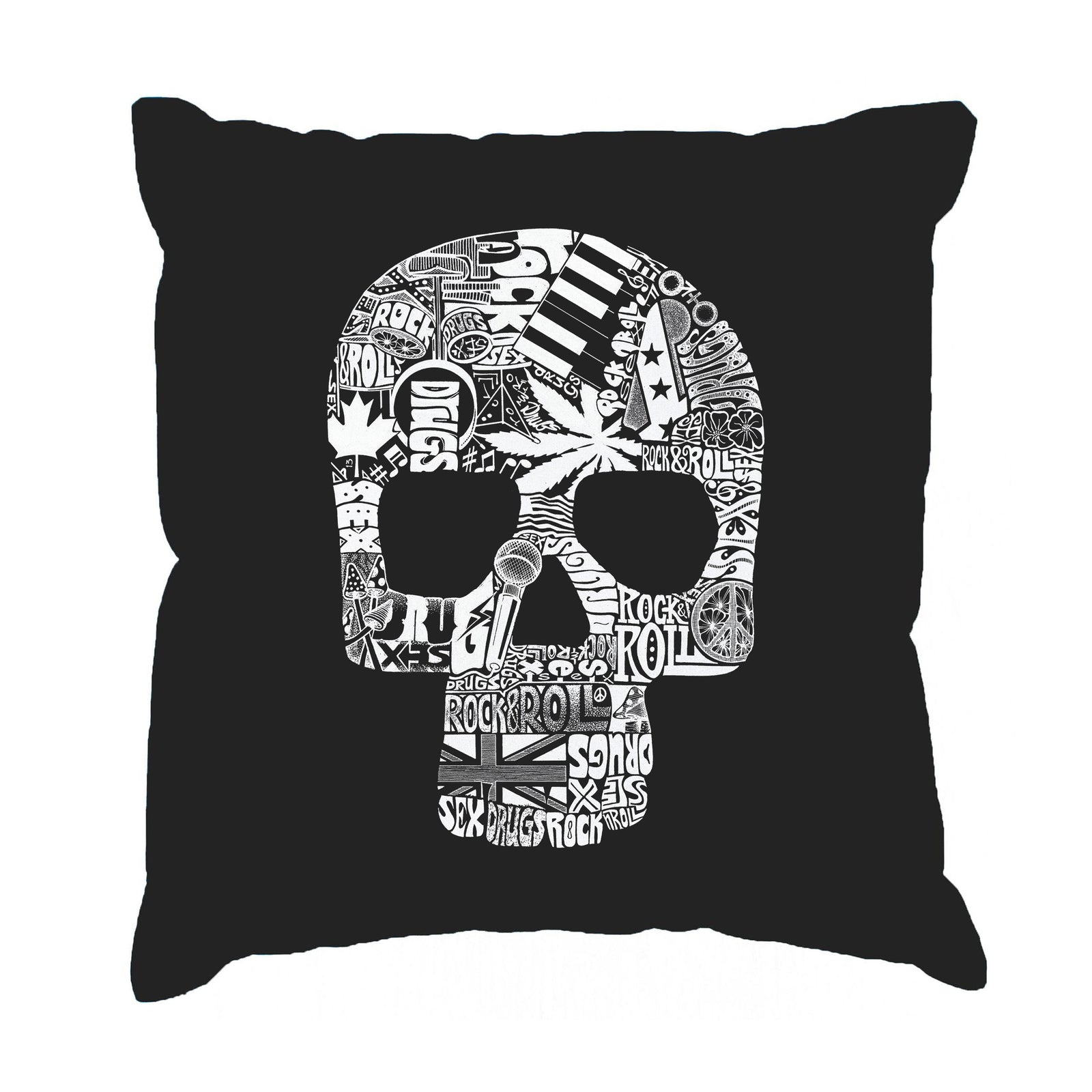 Throw Pillow Cover - Sex, Drugs, Rock & Roll