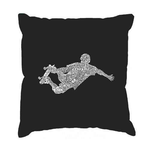 Throw Pillow Cover - POPULAR SKATING MOVES & TRICKS