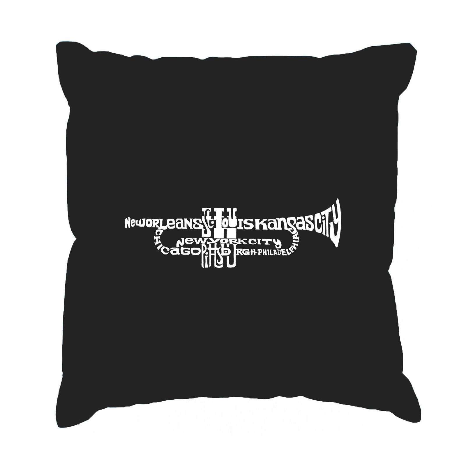Throw Pillow Cover - Word Art - Trumpet