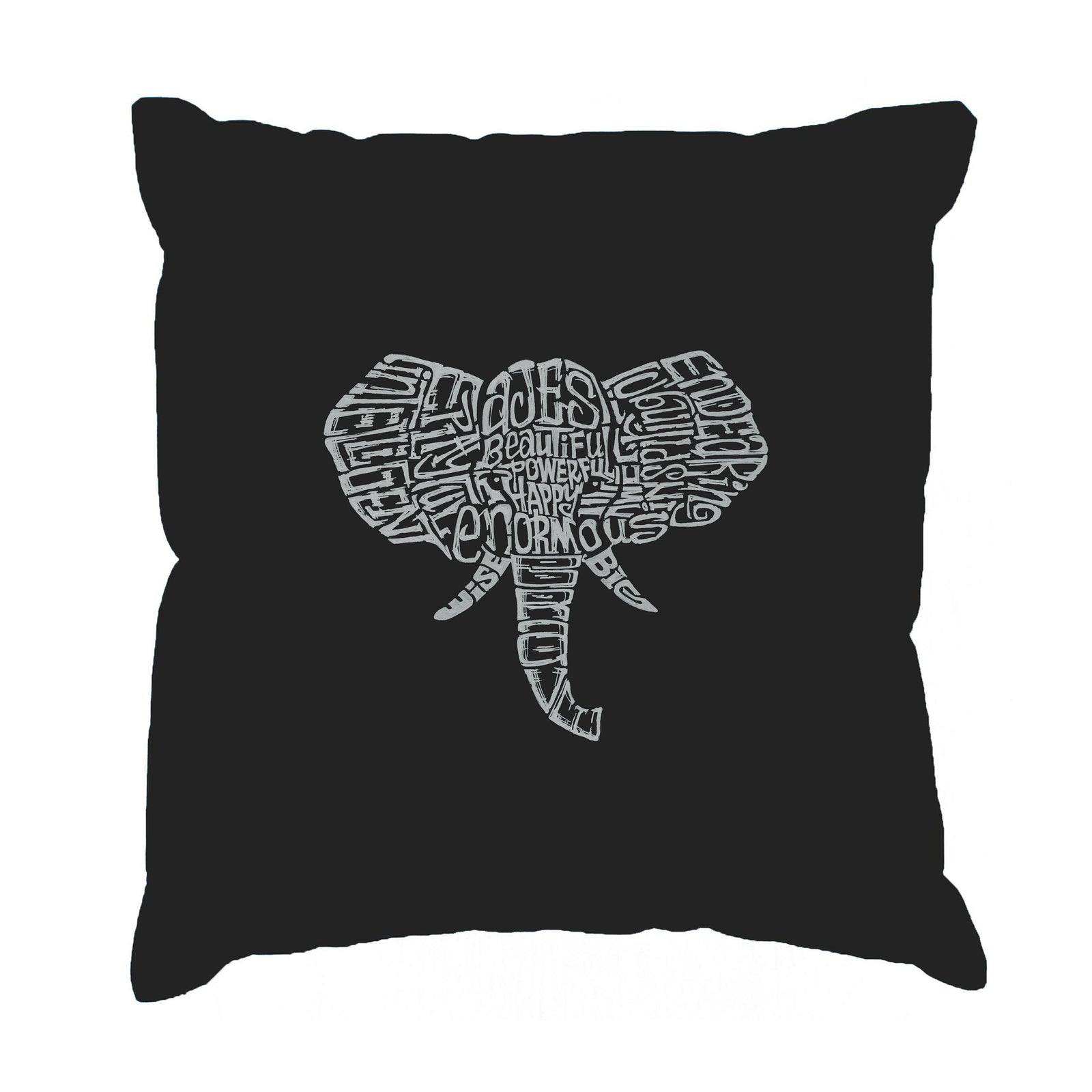Throw Pillow Cover - Word Art - Tusks