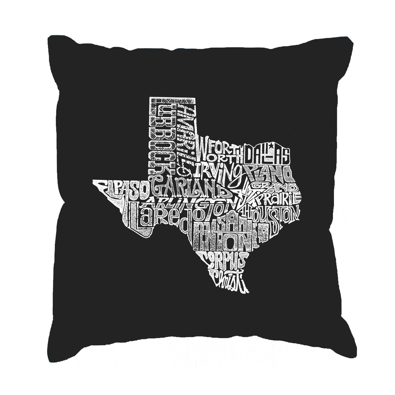 Throw Pillow Cover - The Great State of Texas