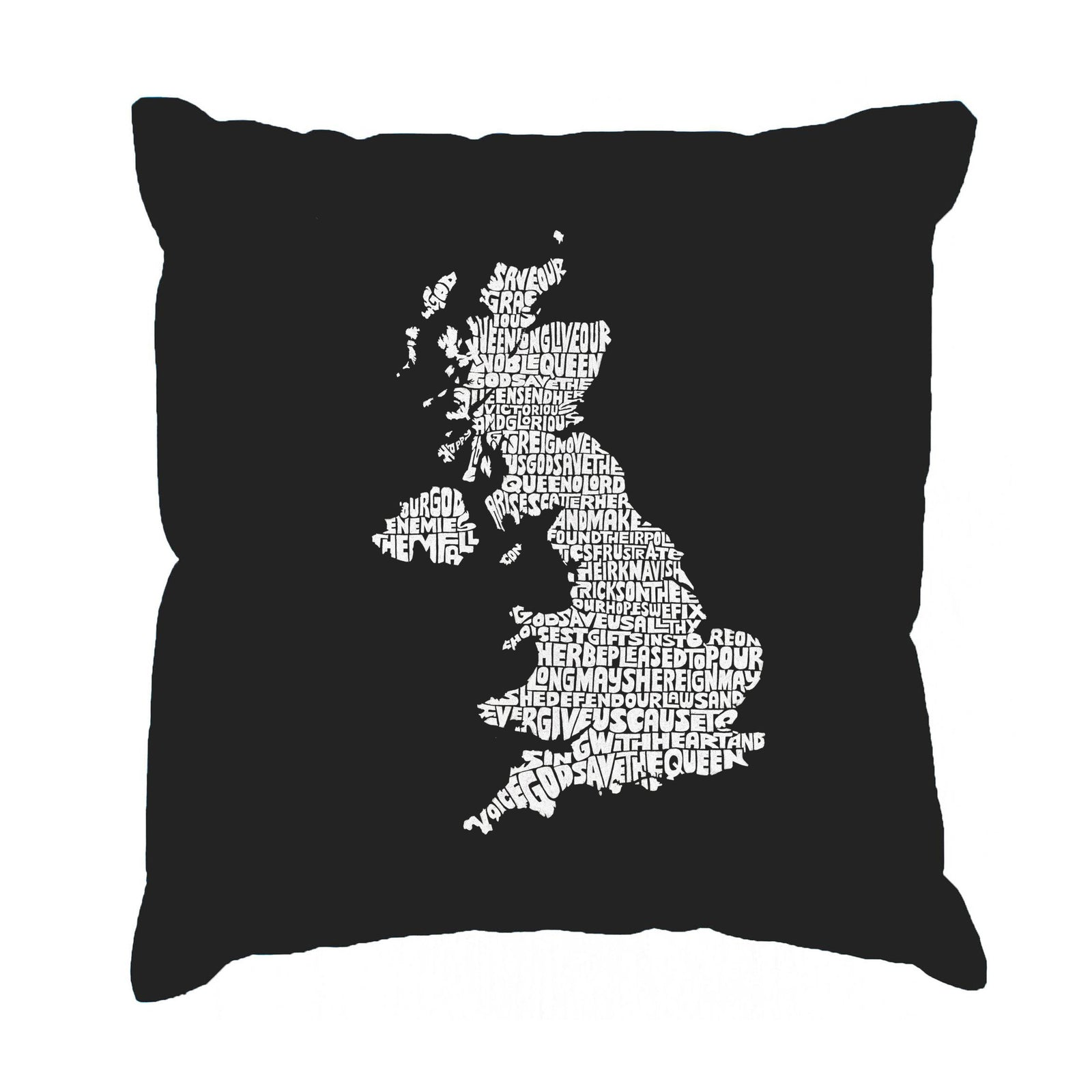Throw Pillow Cover - GOD SAVE THE QUEEN