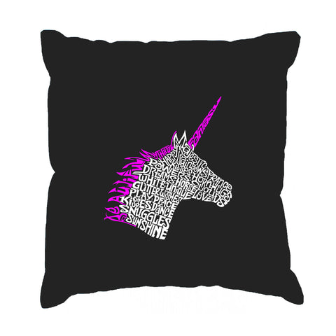 Throw Pillow Cover - Word Art - Sax