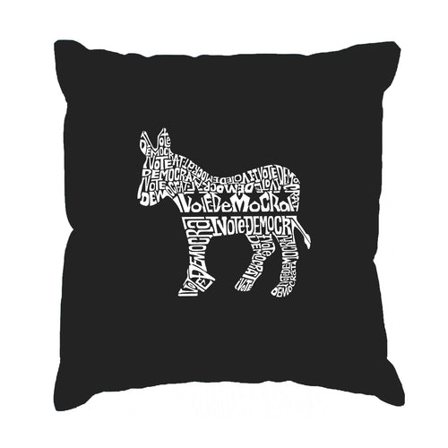 Throw Pillow Cover - I Vote Democrat