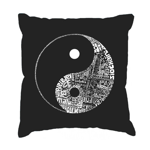 Throw Pillow Cover - YIN YANG