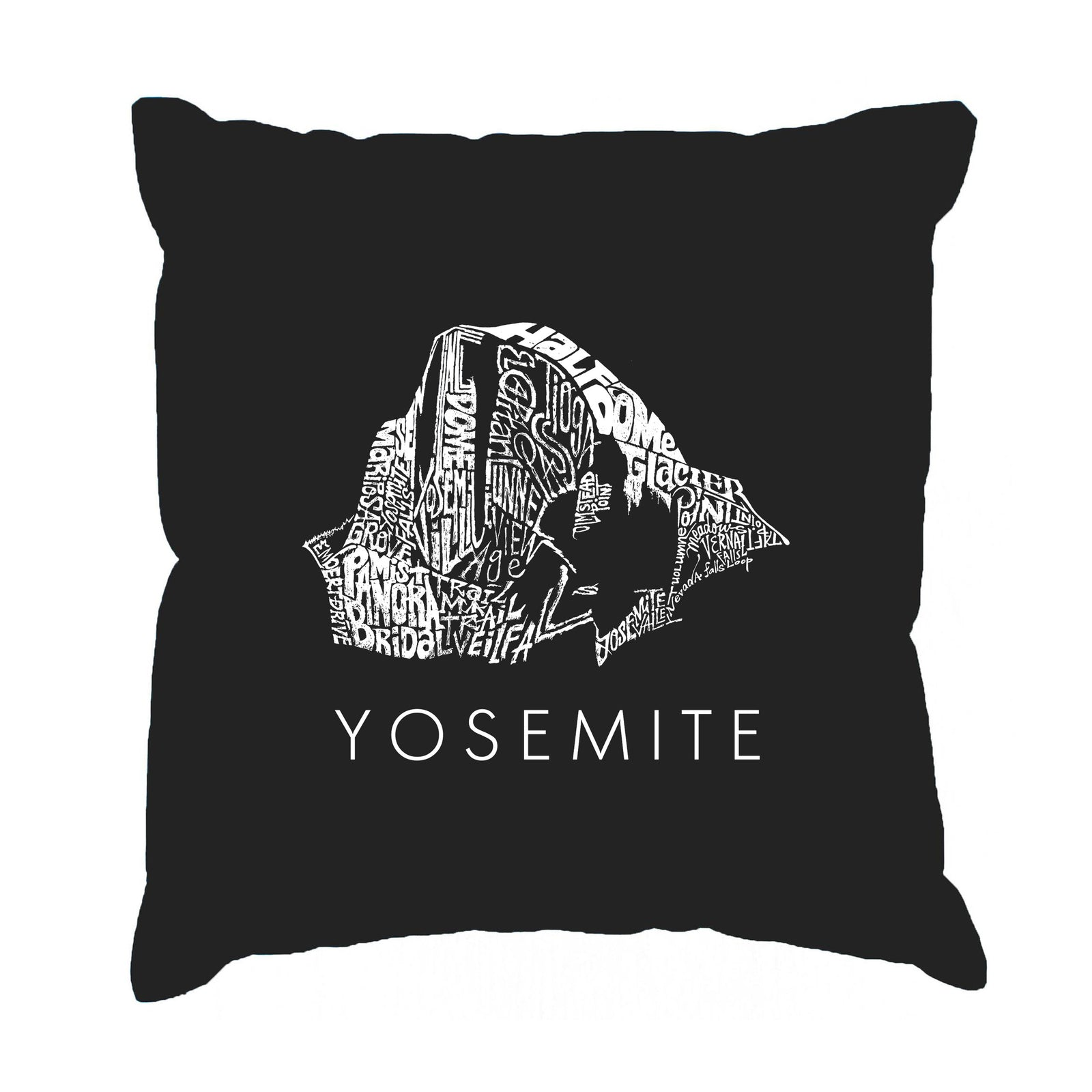 Los Angeles Pop Art Throw Pillow Cover - Yosemite